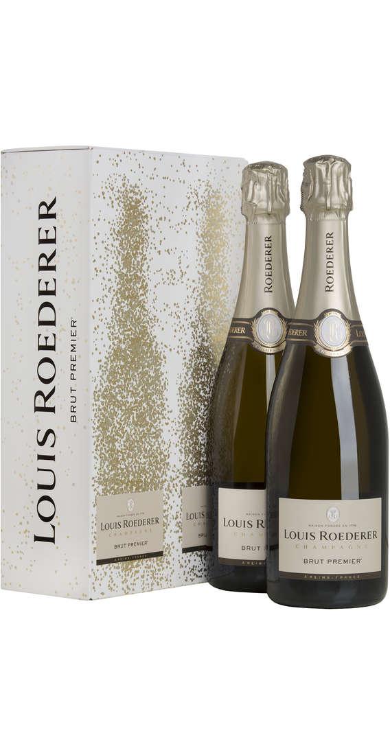 2 Bottiglie Champagne Brut PREMIER LOUIS Astucciato