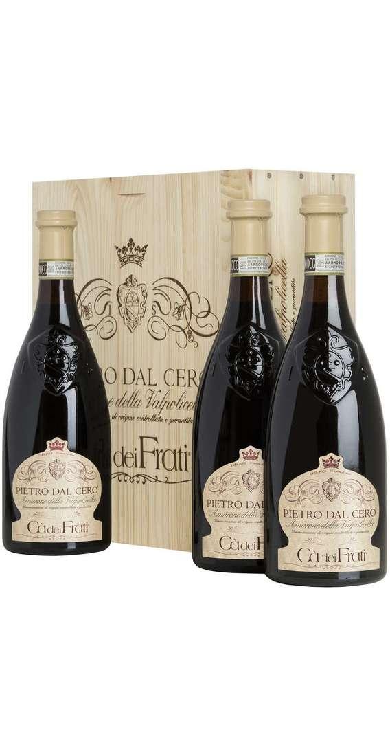 """3 Bottiglie Amarone """"Pietro Dal Cero"""" in Cassa Legno"""
