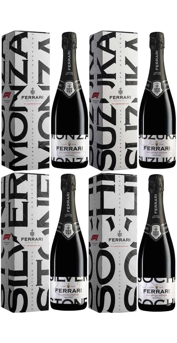 """4 Bottiglie F1 Ferrari Trento DOC Limited Edition """"Gran Premi"""""""