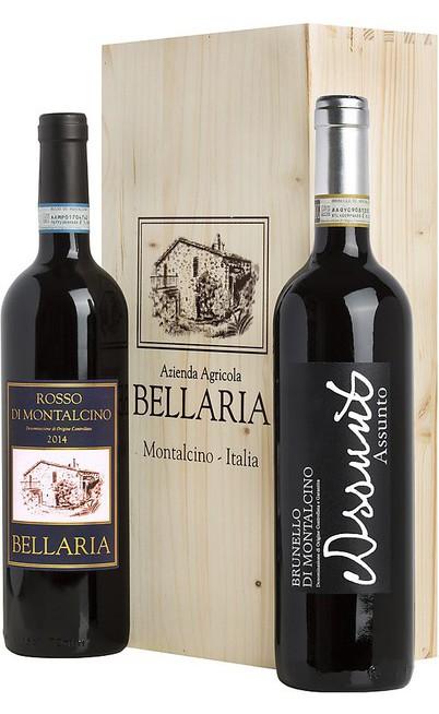Brunello Montalcino e Rosso di Montalcino in Cassa di legno Bellaria