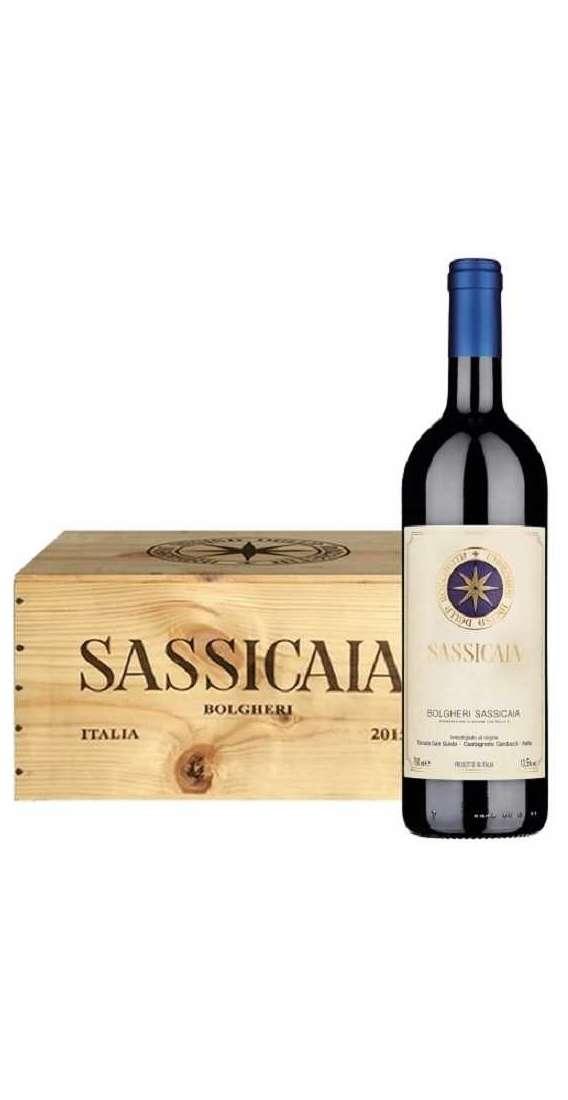 6 Bottiglie Sassicaia 2017 in Cassa di Legno