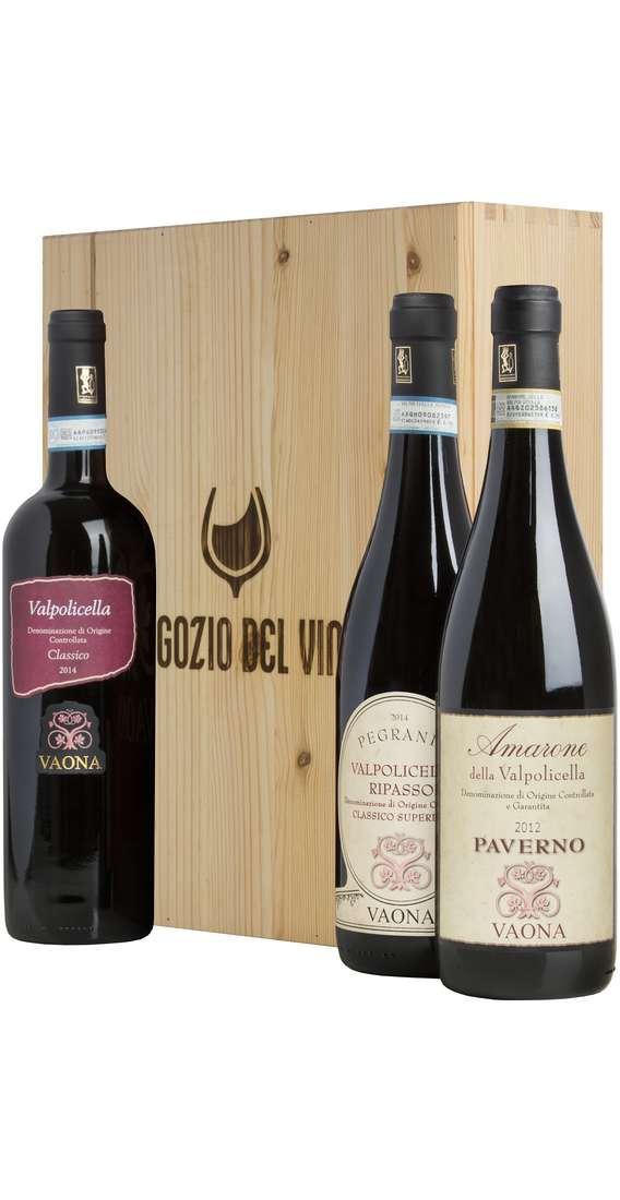 Amarone, Ripasso e Valpolicella Classico in Cassa Legno