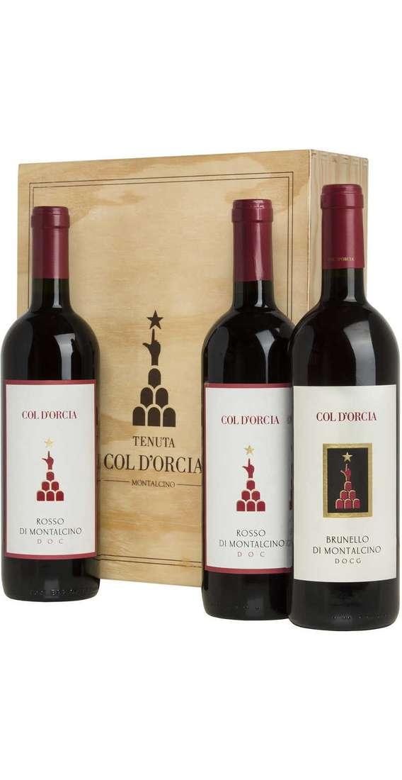 Brunello di Montalcino e Rosso Montalcino in Cassa Legno