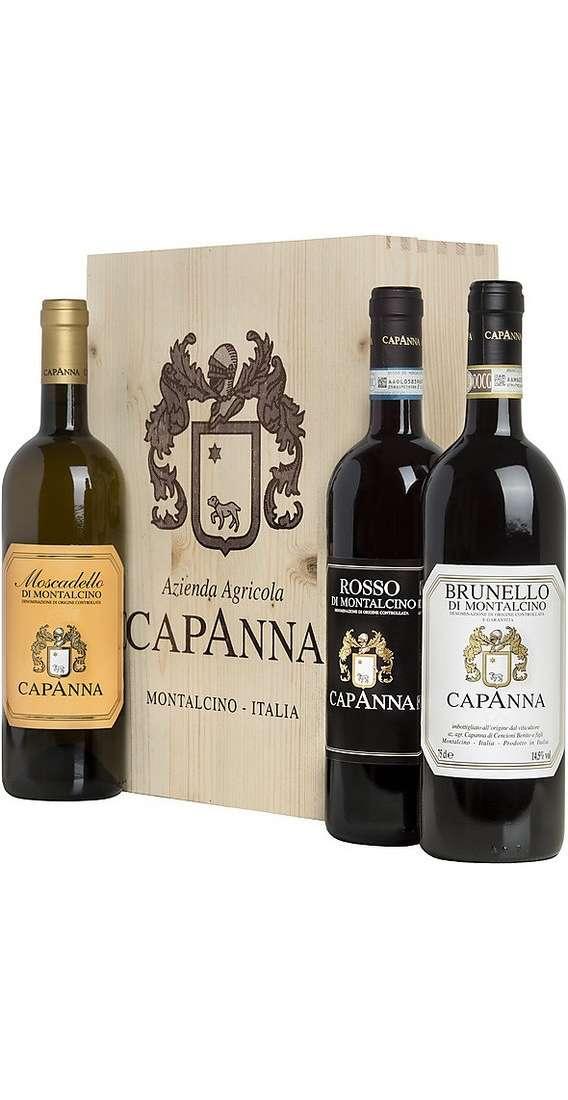 Brunello Montalcino, Rosso Montalcino e Moscadello in Cassa Legno