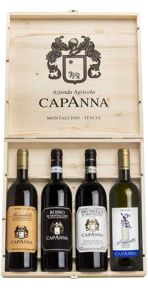 Brunello Montalcino, Rosso Montalcino, SanGio Bì e Moscadello in Cassa Legno