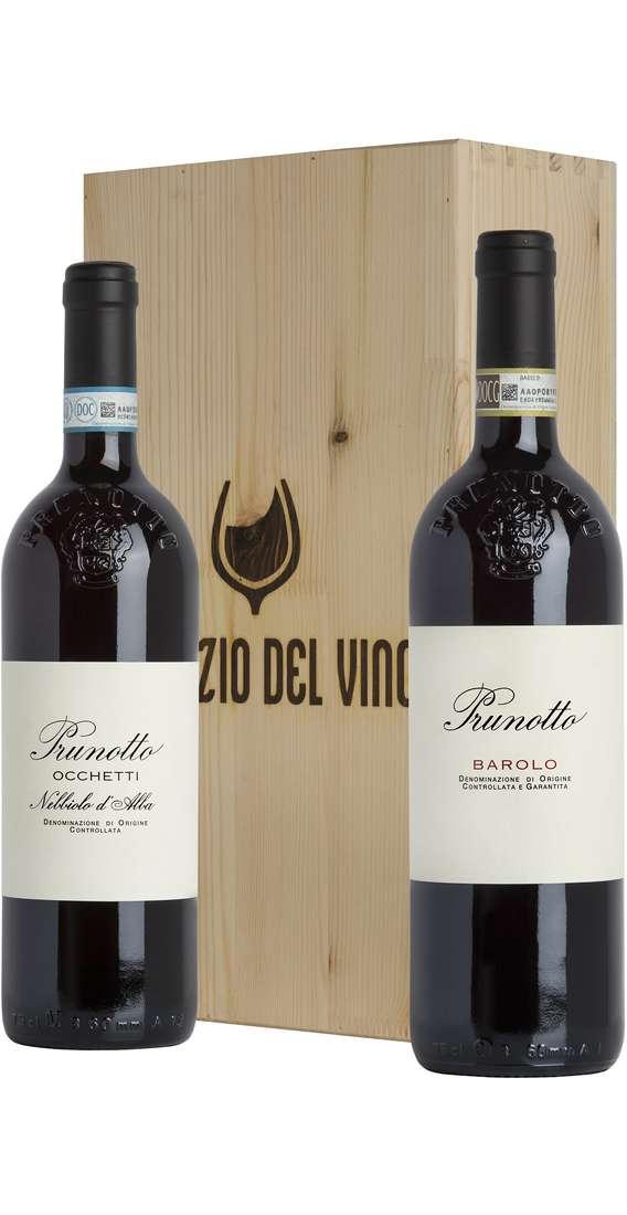 Cassa di Legno 2 Vini Barolo e Nebbiolo