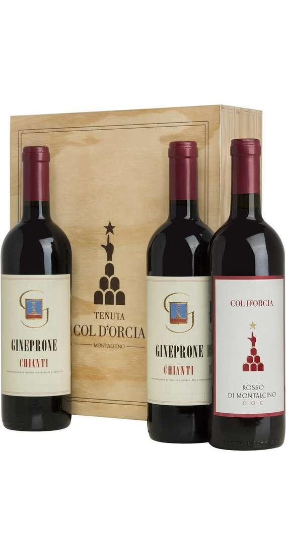 Cassa di Legno 3 Vini 2 Chianti e Rosso Montalcino