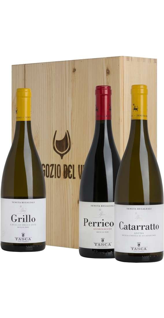 Cassa di Legno 3 Vini Catarratto, Perricone e Grillo