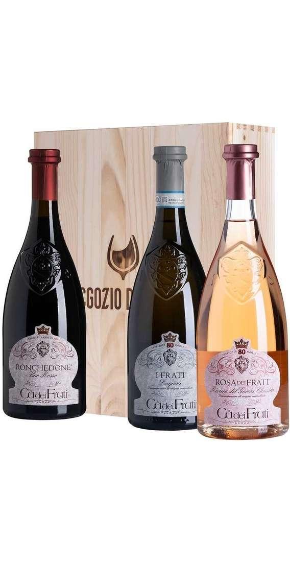 Cassa di Legno 3 Vini Lugana, Ronchedone e Rosa dei Frati