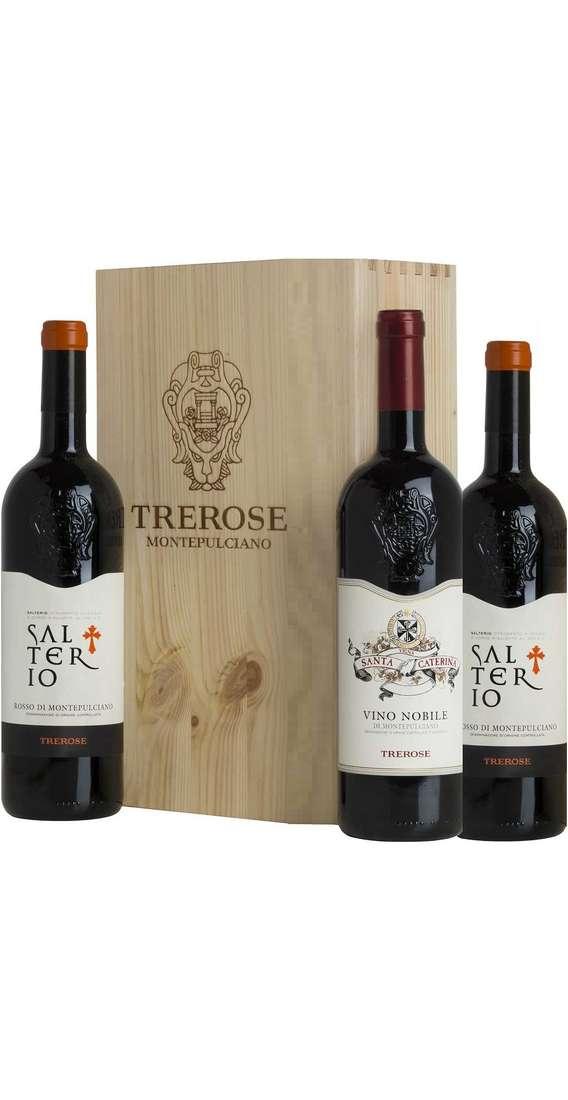 Cassa di Legno 3 Vini Nobile Montepulciano e Rosso Montepulciano