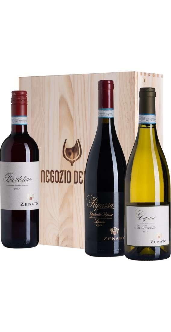 Cassa di Legno 3 Vini Ripassa, Lugana e Bardolino