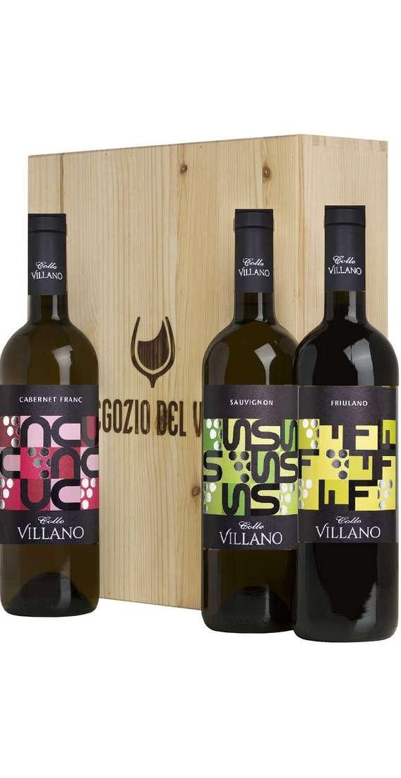 Cassa di Legno 3 Vini Sauvignon, Cabernet Franc, Friulano
