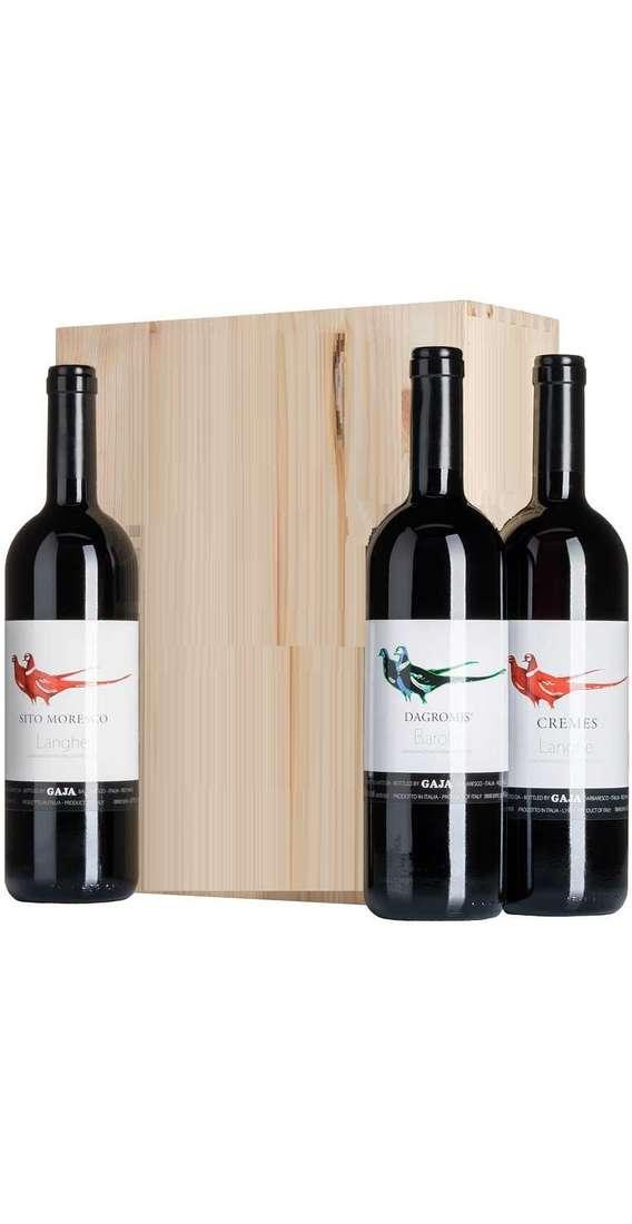 Cassa Legno 3 Vini Barolo Dagromis, Cremes e Sito Moresco