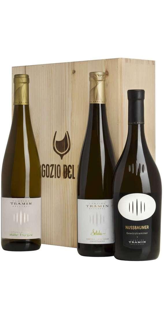 """Cassa Legno 3 Vini Gewurztraminer """"Nussbaumer"""", Gewurztraminer Selida, Muller Thurgau"""
