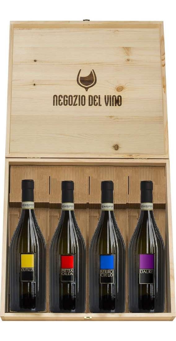 Cassa Legno 4 Vini Campani Greco di Tufo, Aglianico, Falanghina e Fiano di Avellino