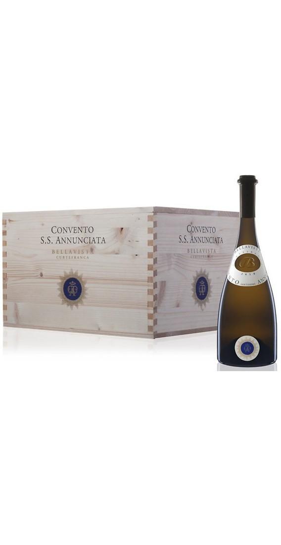 Cassa legno contente 6 Bottiglie Convento Santissima Annunciata DOC