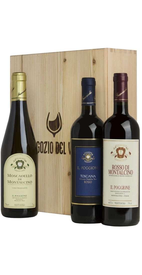 Cassa Legno Rosso Montalcino, Moscadello e Rosso Toscana