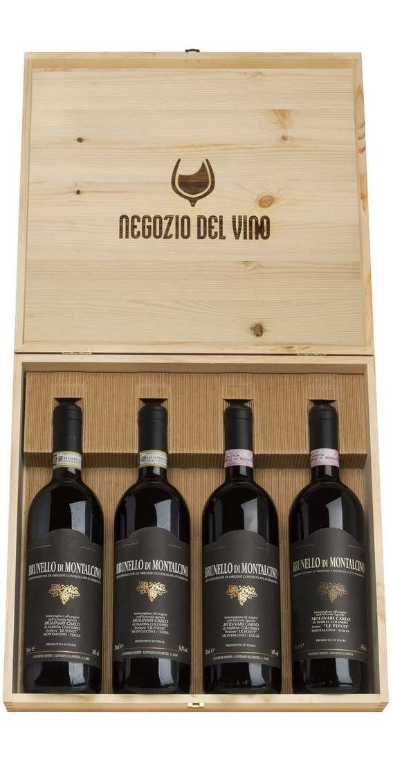 Cassa Legno Verticale Brunello di Montalcino DOCG 2006 - 2008 - 2012 - 2013