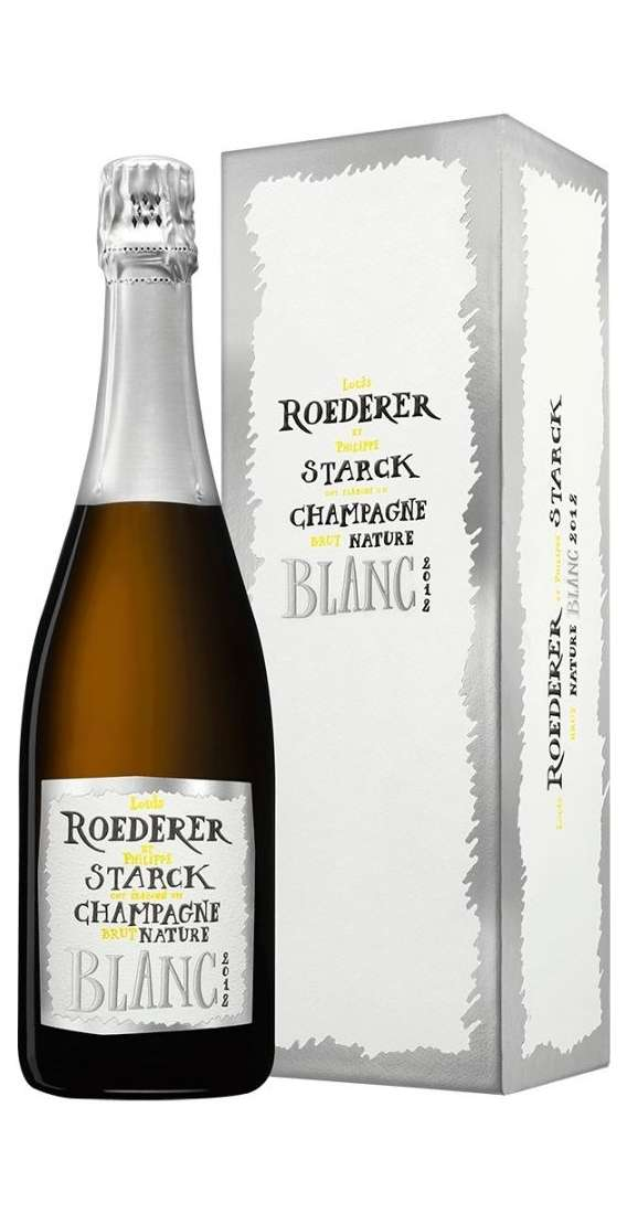Champagne Brut Nature Blanc Louis Roederer & Philippe Starck 2012 Astucciato