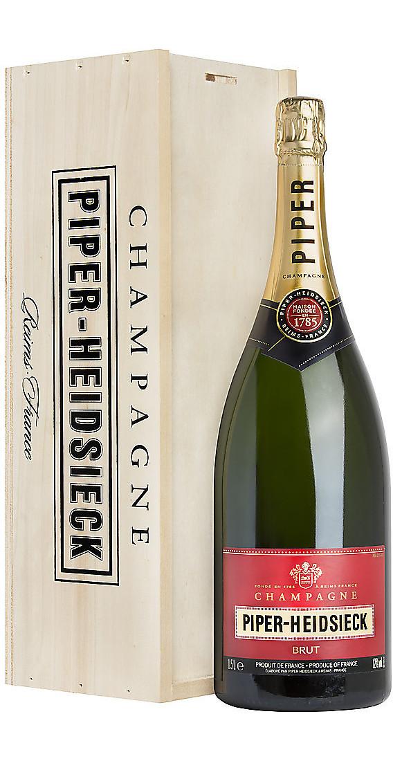 "Doppio Magnum 3 Litri Champagne Piper-Heidsieck Brut ""Cassa di Legno"""