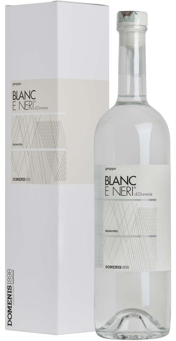 Grappa Blanc e Neri di DOMENIS Blanc Moscato in Astuccio