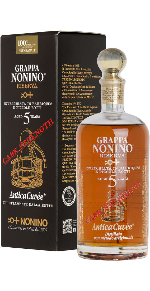 "Grappa ""Riserva 5 YEARS ""Antica Cuvée Cask Strength"