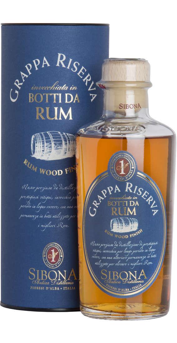 "Grappa RISERVA ""Invecchiata in Botti da Rum"" Astucciata"