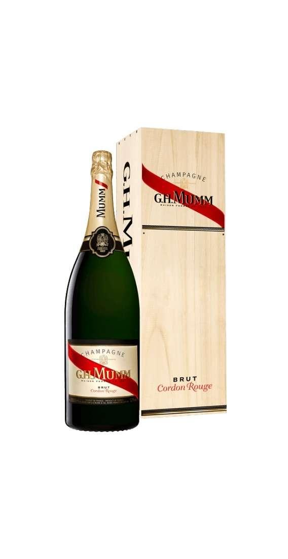 """Jéroboam 3 Litri Champagne Silver """"Cordon Rouge"""" in Cassa Legno"""