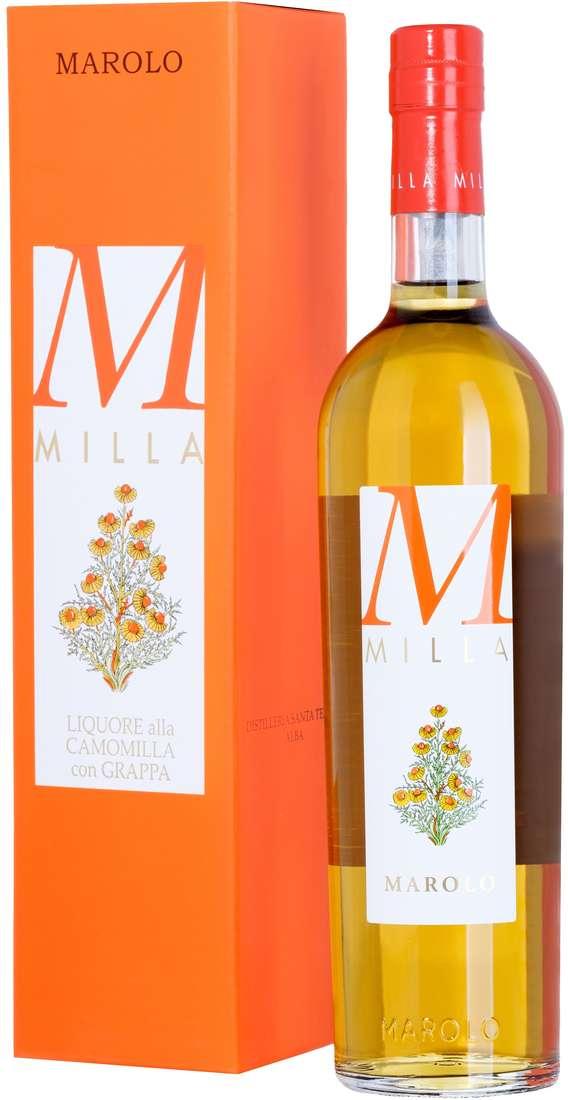 """Liquore alla Camomilla con grappa """"Milla"""" Astucciato"""