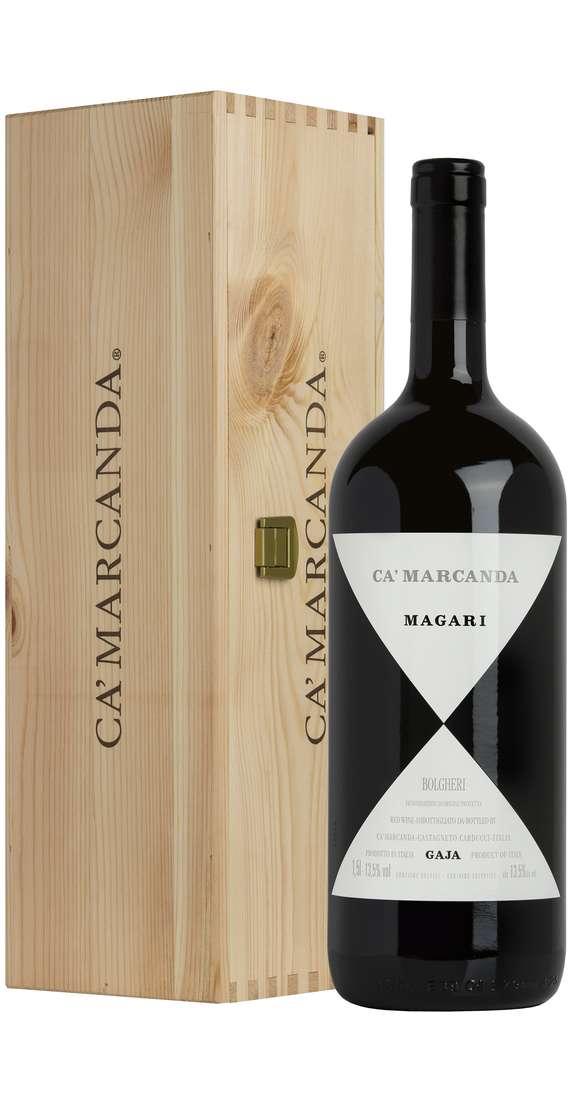 """Magnum 1,5 Litri Bolgheri """"MAGARI"""" DOC in Cassa Legno"""