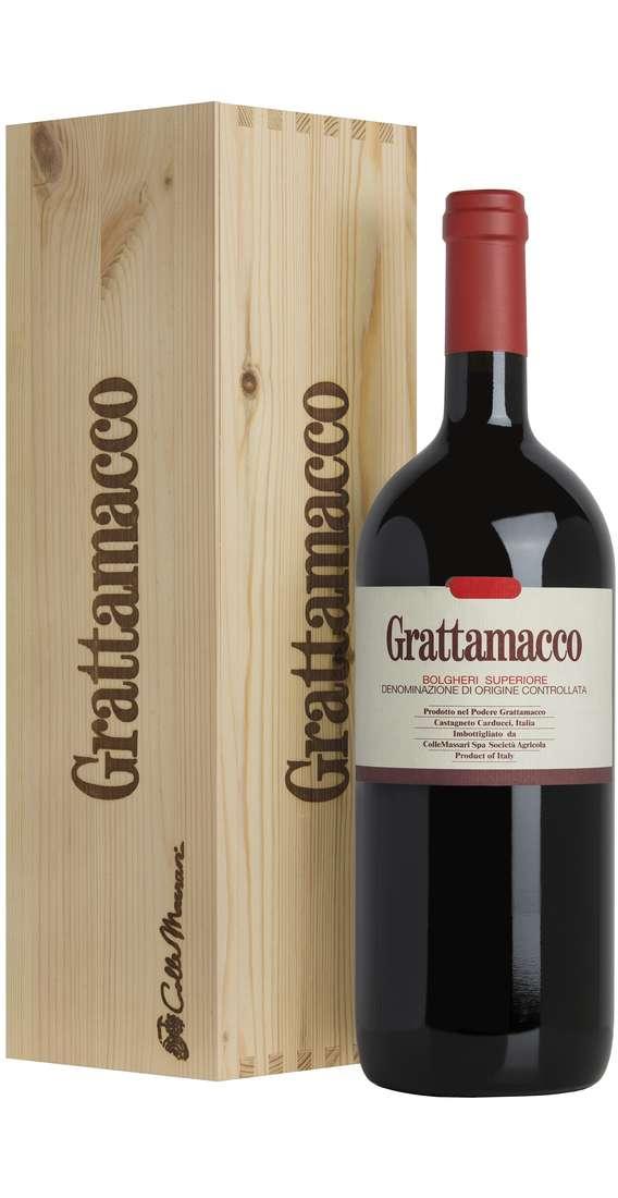 "Magnum 1,5 Litri Bolgheri Rosso Superiore ""Grattamacco"" DOC in Cassa Legno"
