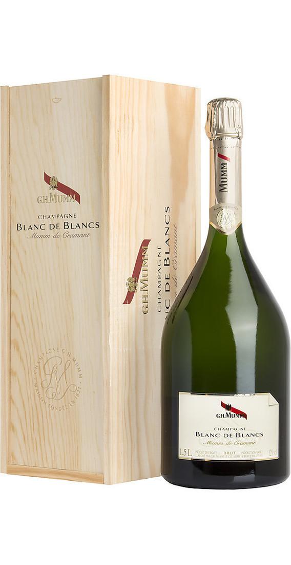 "Magnum 1,5 litri Champagne Blanc De Blancs ""Mumm De Cramant"" In Cassa di legno"
