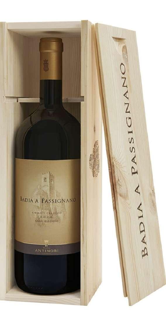 Magnum 1,5 Litri Chianti Classico Gran Selezione Tenuta Badia a Passignano DOCG in Cassa Legno