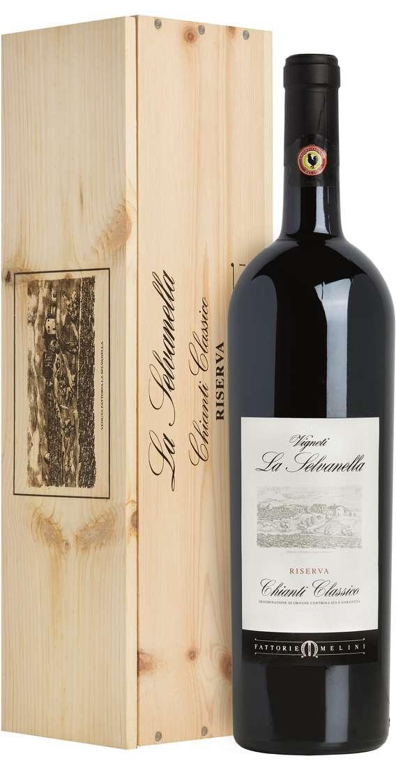 """Magnum 1,5 Litri Chianti Classico RISERVA """"La Selvanella"""" DOCG in Cassa Legno"""