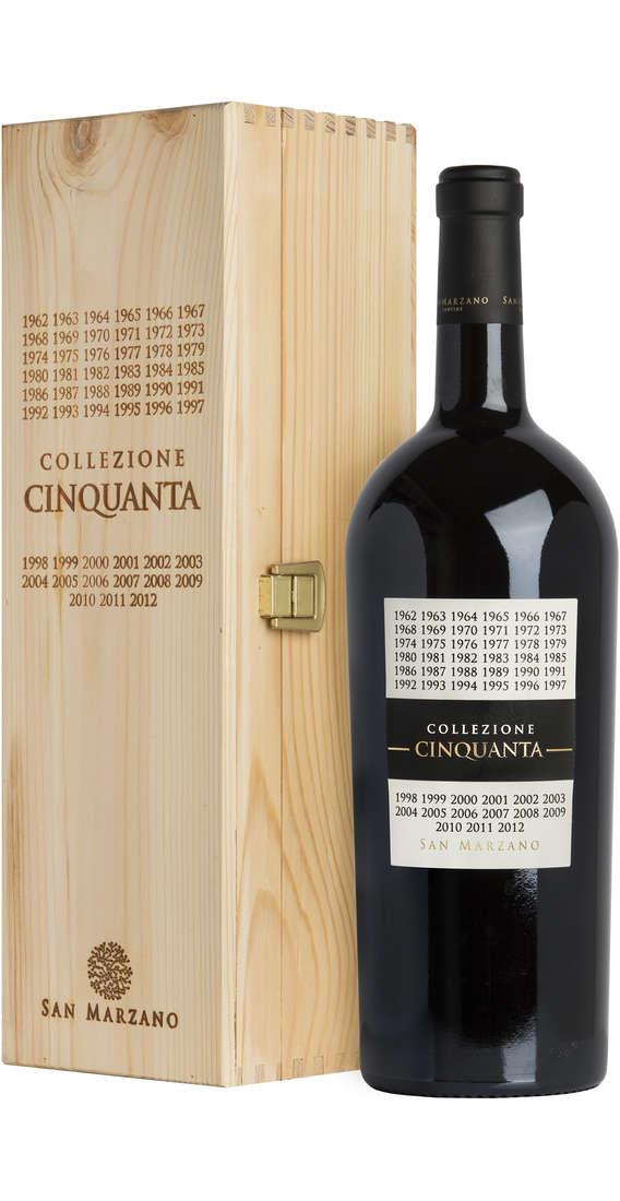 Magnum 1,5 Litri Collezione Cinquanta Vino Rosso d'Italia In Cassa Legno