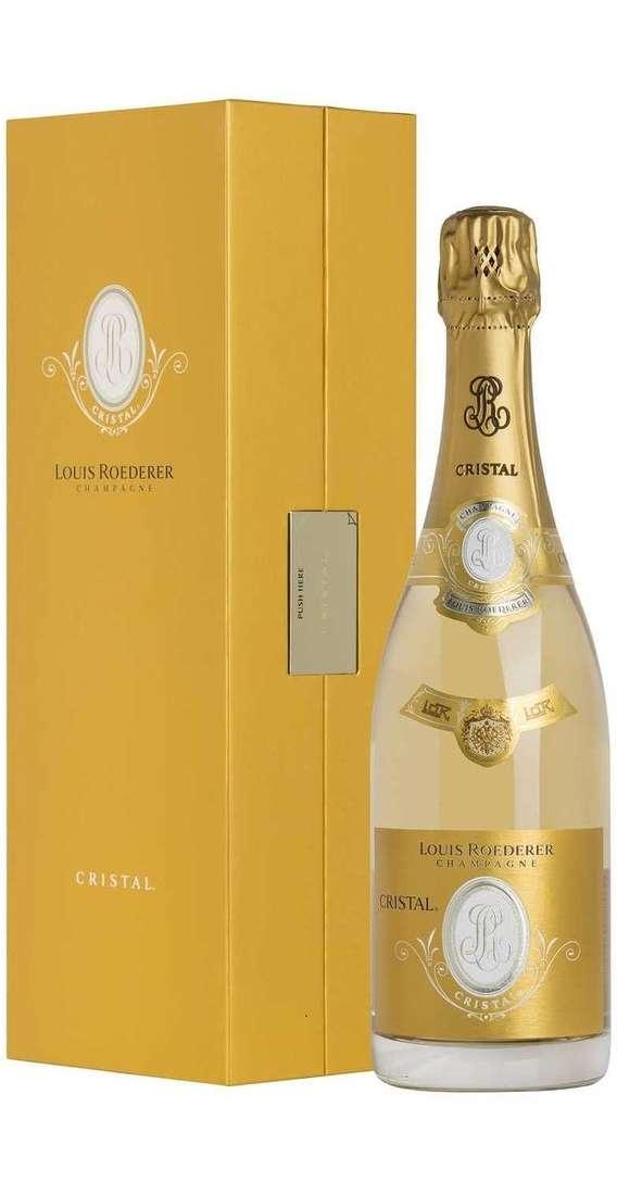 """Magnum 1,5 Litri """"Cristal"""" Champagne Brut in Cassa Legno"""