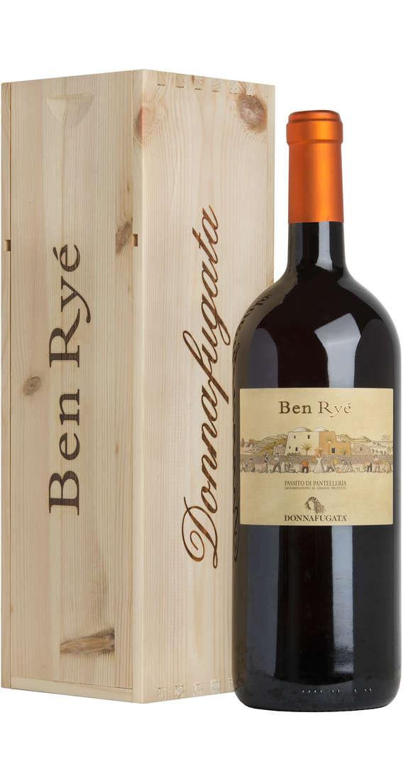 """Magnum 1,5 Litri Passito di Pantelleria """"Ben Ryé"""" Dop In Cassa Legno"""
