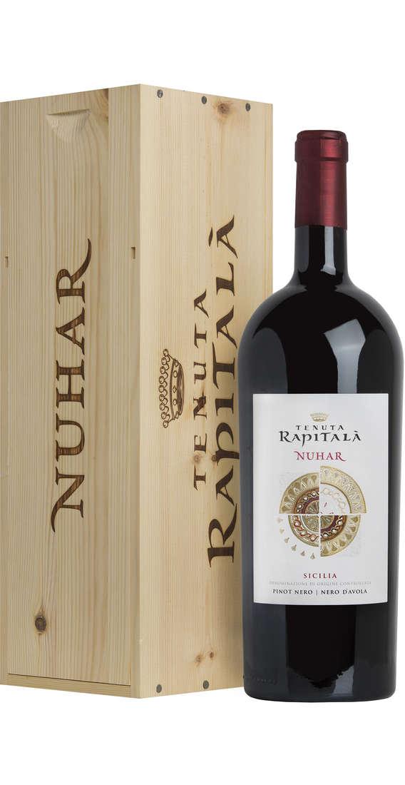 """Magnum 1,5 Litri Pinot Nero - Nero d'Avola """"NUHAR"""" Sicilia DOC in Cassa Legno"""