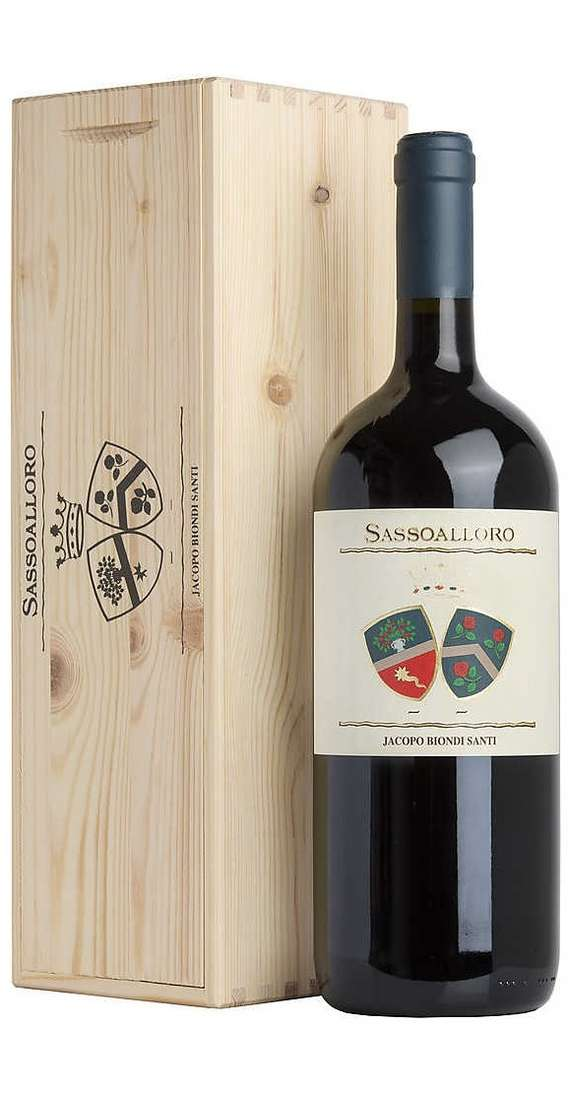 Magnum 1,5 Litri Sassoalloro Rosso Toscano in Cassa Legno