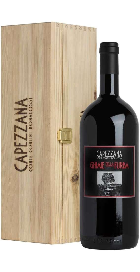 """Magnum 1,5 Litri Toscana Rosso """"GHIAIE DELLA FURBA"""" in Cassa Legno"""