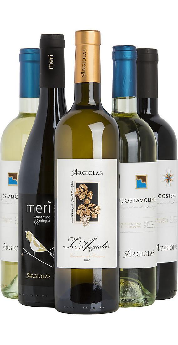 Selezione 6 vini sardi cantina argiolas