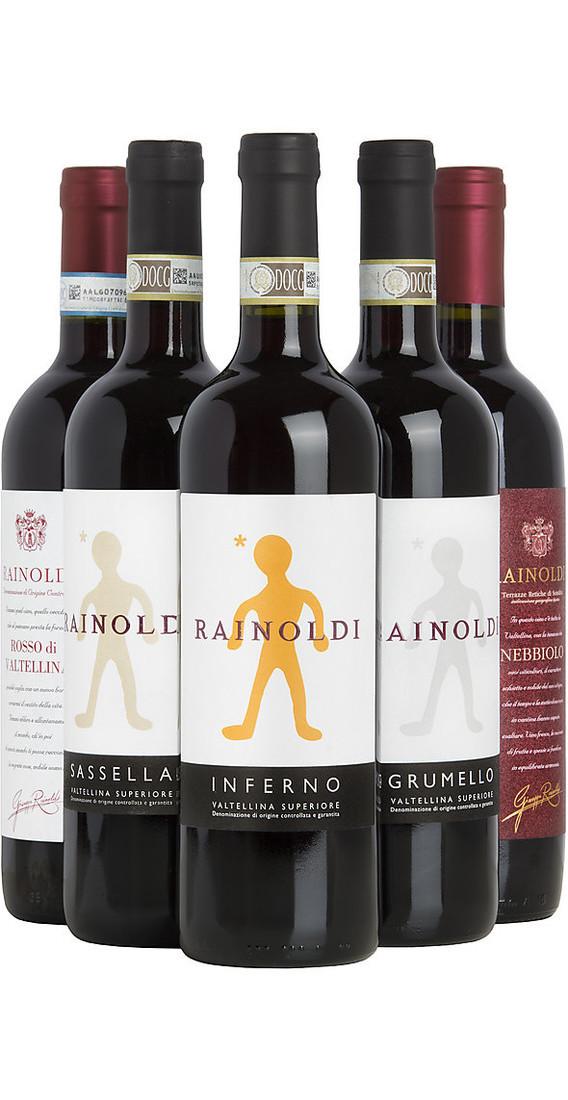 Selezione di 6 vini valtellina cantina aldo rainoldi