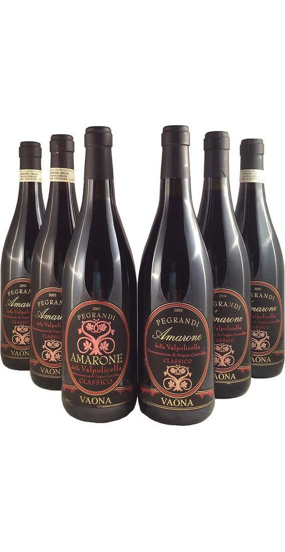 "Verticale Amarone ""Pegrandi"" 2000-03-04-06-08-11 in cassa di legno"