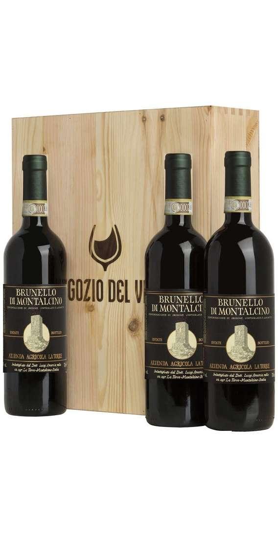 Verticale Brunello di Montalcino DOCG 2012 - 2013 - 2014 in Cassa Legno